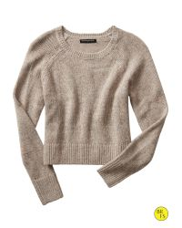 Banana Republic | Natural Factory Heathered Crop Sweater | Lyst