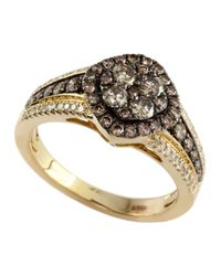 Effy | Metallic Brown And White Diamond And 14k Yellow Gold Ring | Lyst