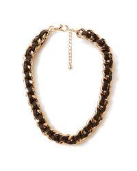 Forever 21 - Black Secret Rebel Woven Necklace - Lyst