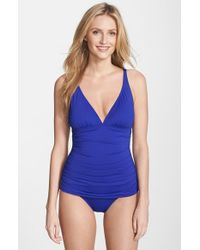 Tommy Bahama | Blue 'pearl' One-piece Swimsuit | Lyst