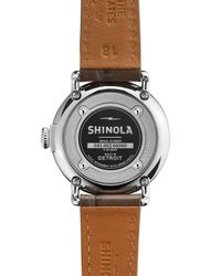 Shinola - Brown The Runwell Stainless Watch With Gray Alligator Leather Strap - Lyst