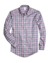 Brooks Brothers | Purple Regent Slim Fit Woven Shirt for Men | Lyst