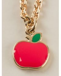 Marc By Marc Jacobs - Red 'bow Tie With Apple' Necklace - Lyst