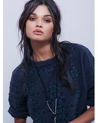 Free People | Blue New Romantics Womens New Romantics Albion Tee | Lyst