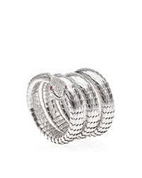 Sidney Garber - Metallic 18K White Gold Il Serpente Bracelet - Lyst