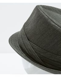 Zara | Gray Cotton Hat for Men | Lyst