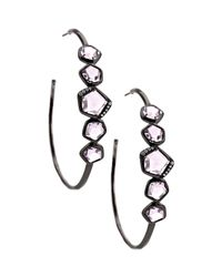Ippolita | Black Wicked Amethyst Hoop Earrings | Lyst