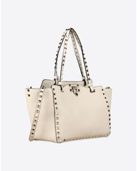 Valentino | Natural White Leather Bag | Lyst