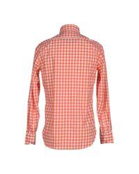 Guglielminotti - Orange Shirt for Men - Lyst