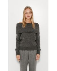 5931b23f125 Designers Remix Fino Off Shoulder Sweater in Gray - Lyst