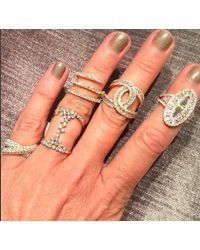 Anne Sisteron - Metallic 14kt White Gold Diamond Twist Ring - Lyst