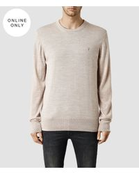 AllSaints | Brown Mode Merino Crew Sweater Usa Usa for Men | Lyst