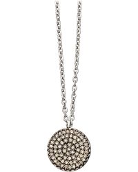 Astley Clarke - Small Icon 14ct White Gold Pendant Necklace - Lyst