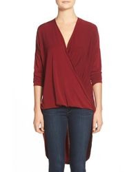 Bobeau | Red Twist Front High/low Tunic | Lyst