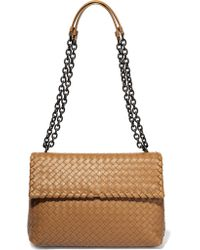 Bottega Veneta. Women s Natural Olimpia Medium Intrecciato Leather Shoulder  Bag 06cdcdf971d6a