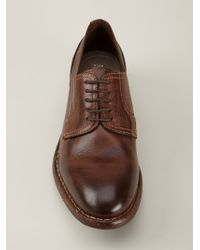 H by Hudson - Brown Cardinal Drum Dye Derby Shoes for Men - Lyst