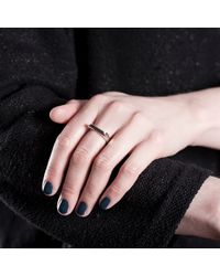 Edge Only - Metallic Rooftop Ring Silver - Lyst