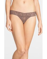 Hanky Panky | Natural 'signature Lace' Low Rise Thong | Lyst