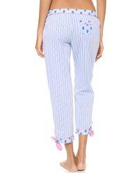 Juicy Couture - Blue Petite Paisley Pants Cornflower Petite - Lyst