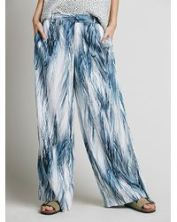 Free People - Multicolor Printed Wideleg Trouser - Lyst