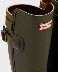 Hunter | Green Women's Original Short Refined Back Strap Wellington Boots | Lyst