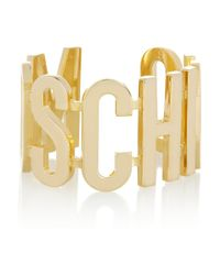 Moschino | Metallic + V&A Gold-Plated Cuff | Lyst