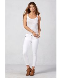 True Religion | White Super Skinny Cropped Womens Jean | Lyst