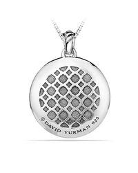 David Yurman - Metallic Labyrinth Large Disc Pendant With Diamonds - Lyst