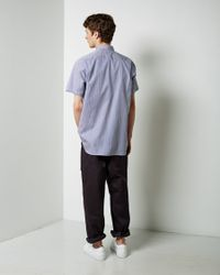 Comme des Garçons - Blue Short Sleeve Pocket Shirt for Men - Lyst