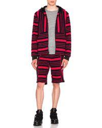 Alexander Wang | Engineered Stripe Boucle Boardshorts | Lyst