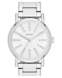 DKNY | Metallic 'soho' Round Bracelet Watch | Lyst