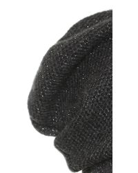 Inverni - Gray Cashmere Lurex Beanie - Grey - Lyst