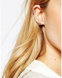 Pieces - Metallic & Julie Sandlau Sterling Silver Jua Stud Earrings - Lyst