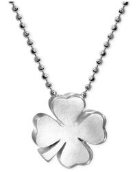 Alex Woo   Metallic Little Faith Clover Pendant Necklace In Sterling Silver   Lyst