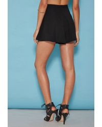 Forever 21 - Black Tiger Mist Pleated Shorts - Lyst
