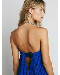 Free People | Blue Piano Dress | Lyst