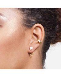 Dutch Basics - Metallic Ear Cuff Gold - Lyst