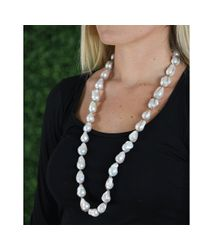 Jordan Alexander | White Baroque Pearl Necklace | Lyst