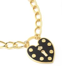 Juicy Couture | Metallic Large Heart Padlock Necklace | Lyst