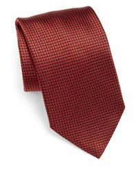 Armani - Red Patterned Silk Tie for Men - Lyst