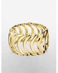 Calvin Klein | Metallic Platinum Body Pvd Gold Bracelet | Lyst