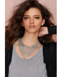 Nasty Gal | Gray Chain Attraction Collar Necklace | Lyst
