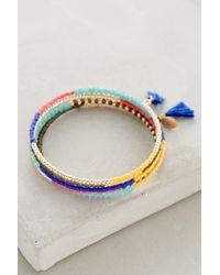 Shashi | Blue Jane Wire Wrap Bracelet | Lyst