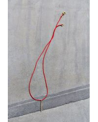 Urban Outfitters - Red Konsidine Needle Necklace - Lyst