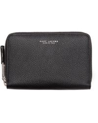Marc Jacobs - Black Leather Compact Incognito Wallet for Men - Lyst