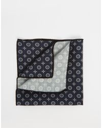 SELECTED - Blue Pocket Square for Men - Lyst