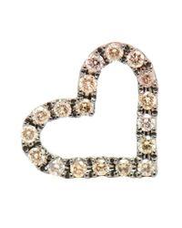 Rosa De La Cruz | Metallic Diamond Heart Stud Earring | Lyst