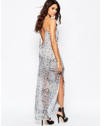 Aka | Gray Ka Snake Print Maxi Cami Dress | Lyst