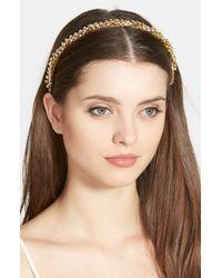 Ficcare | Metallic 'isabella' Swarovski Crystal Headband | Lyst