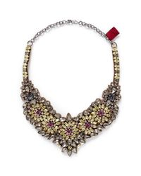 Valentino | Multicolor Crystal Flower Necklace | Lyst